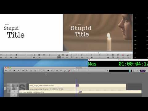 Avid Screencast #32: Blurring into / out of a Title
