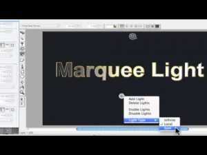 Using lights with Marquee Title Tool in Avid Media Composer