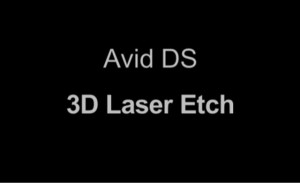 Avid DS 3D Laser Etching Effect Tutorial