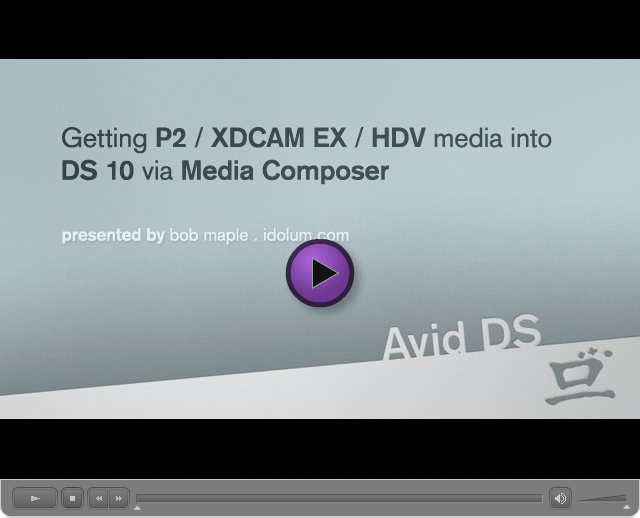 P2/XDCAM to DS