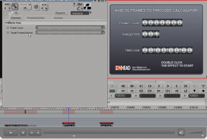 Avid DS Frames to Timecode Calculator