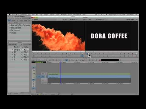 Manhattan Edit Workshop Training Series: Filling Titles With Video in Avid Media Composer 6