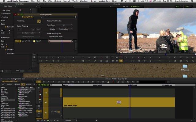 Media Composer Blur Tracking Effect