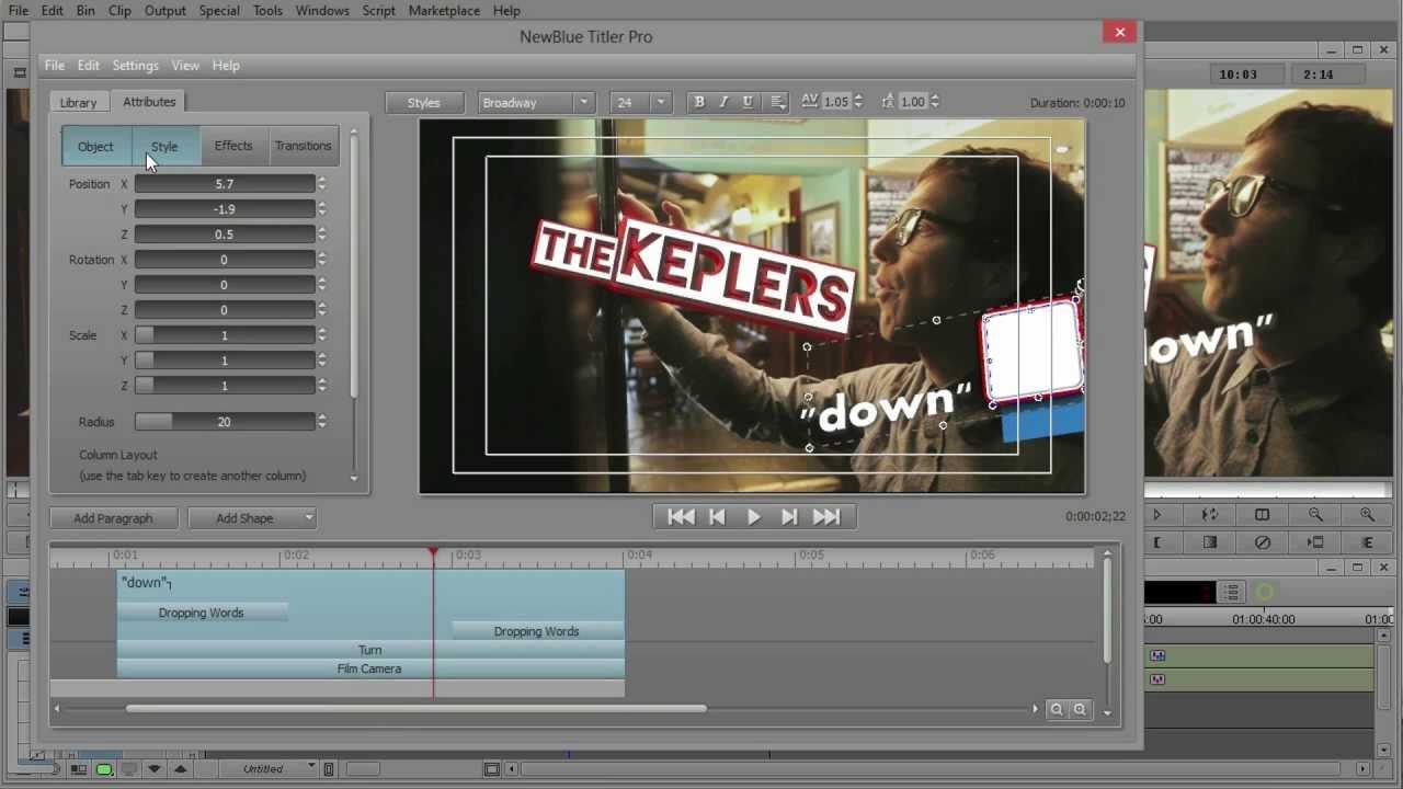 NewBlue Titler Pro for Media Composer Basics 3 of 3