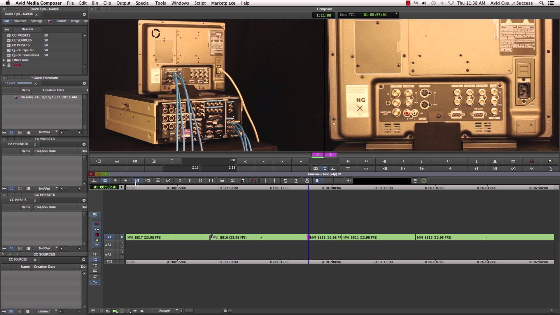 Survival Guide ‒ Media Composer® Save an FX Preset with Source ‒ Avid®