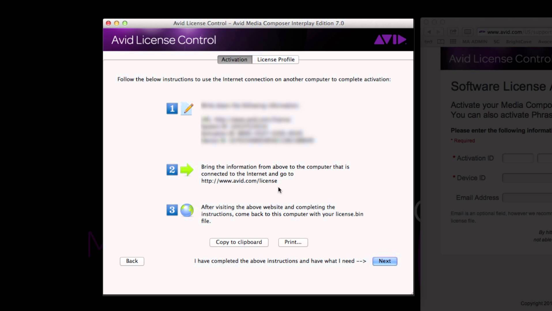 Media Composer® 7 Indirect Activation (no Internet Connection) ‒ Avid®