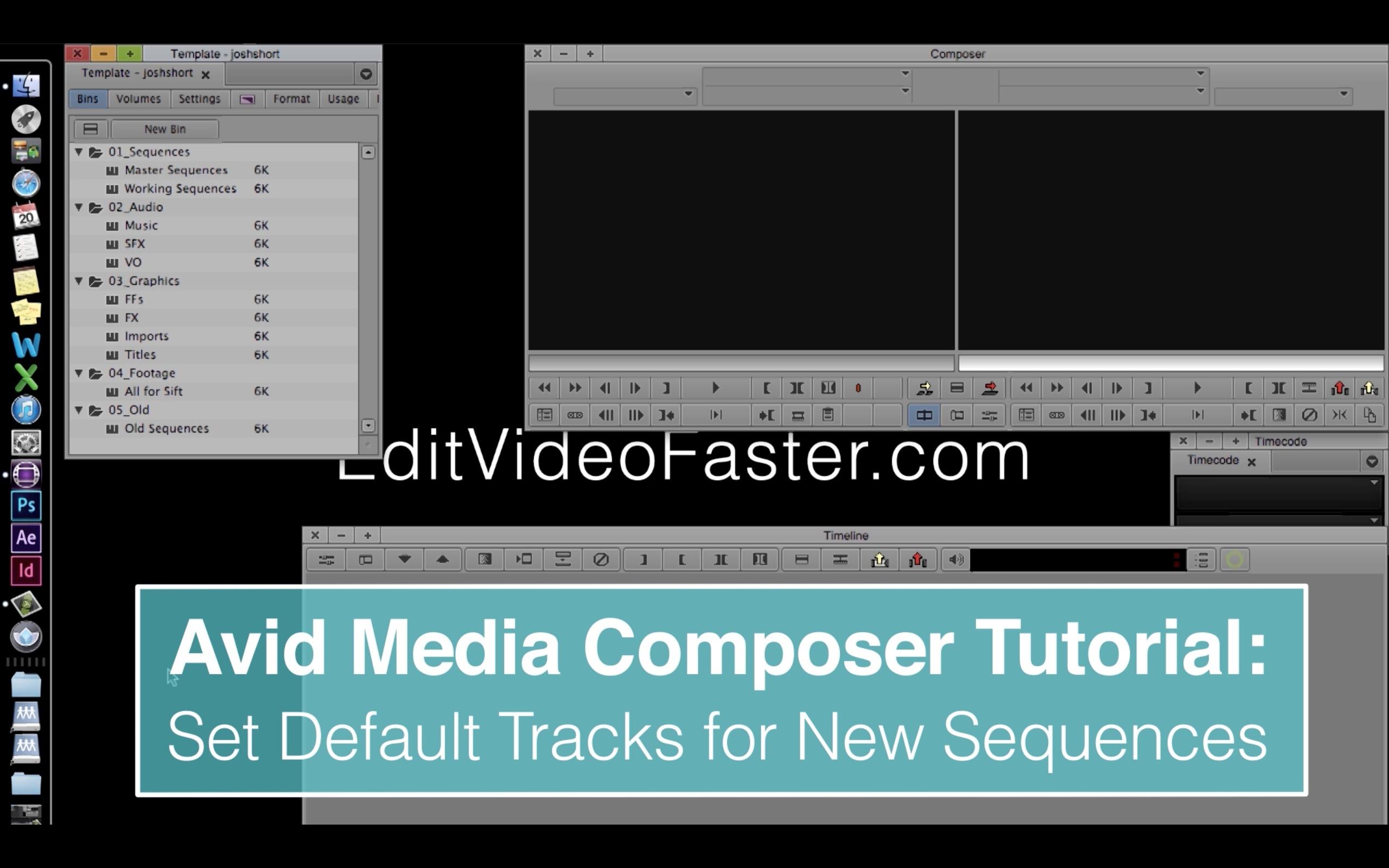 EVF Avid Media Composer Tutorial: Set Default Tracks in New Sequences
