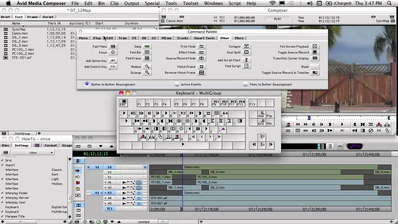 How to MultiGroup in AVID Media Composer for Reality TeleVision