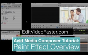 EVF Tutorial – Paint Effect Overview in Avid Media Composer
