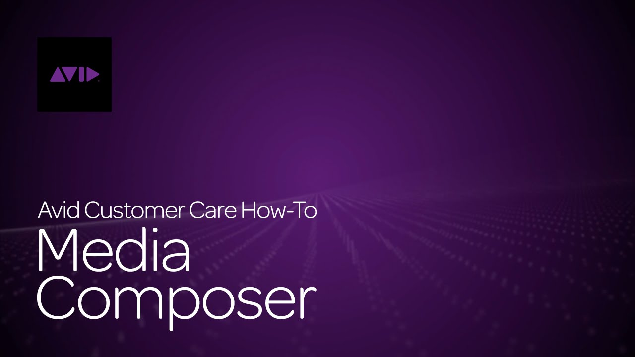 How To Use Dynamic Media Folders in Media Composer