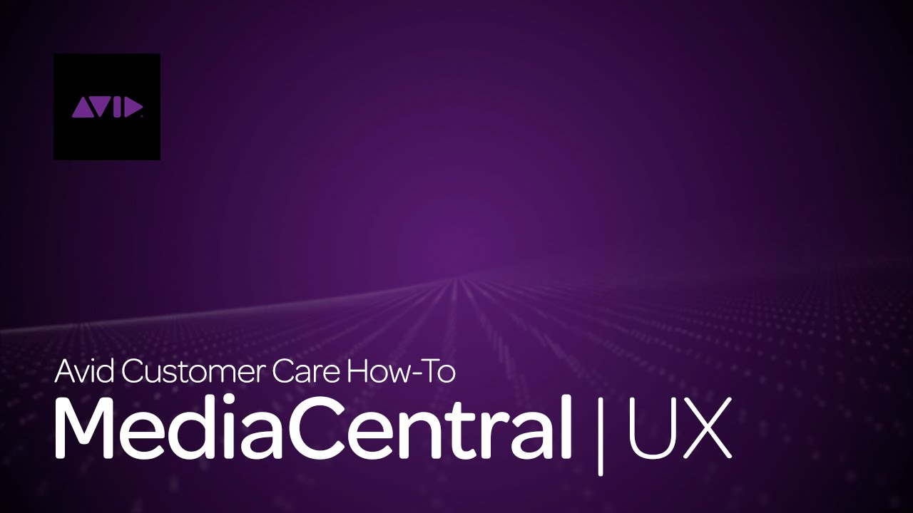 MediaCentral | UX – How To Sign In