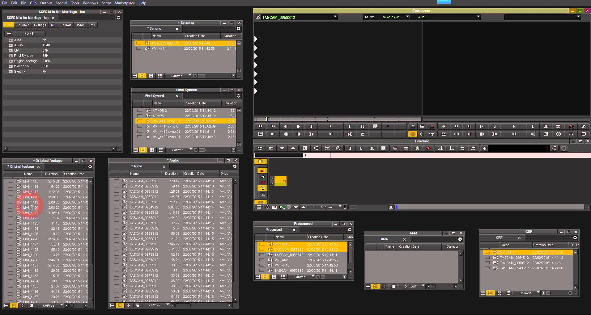 Syncing Video and Audio in Avid Media Composer