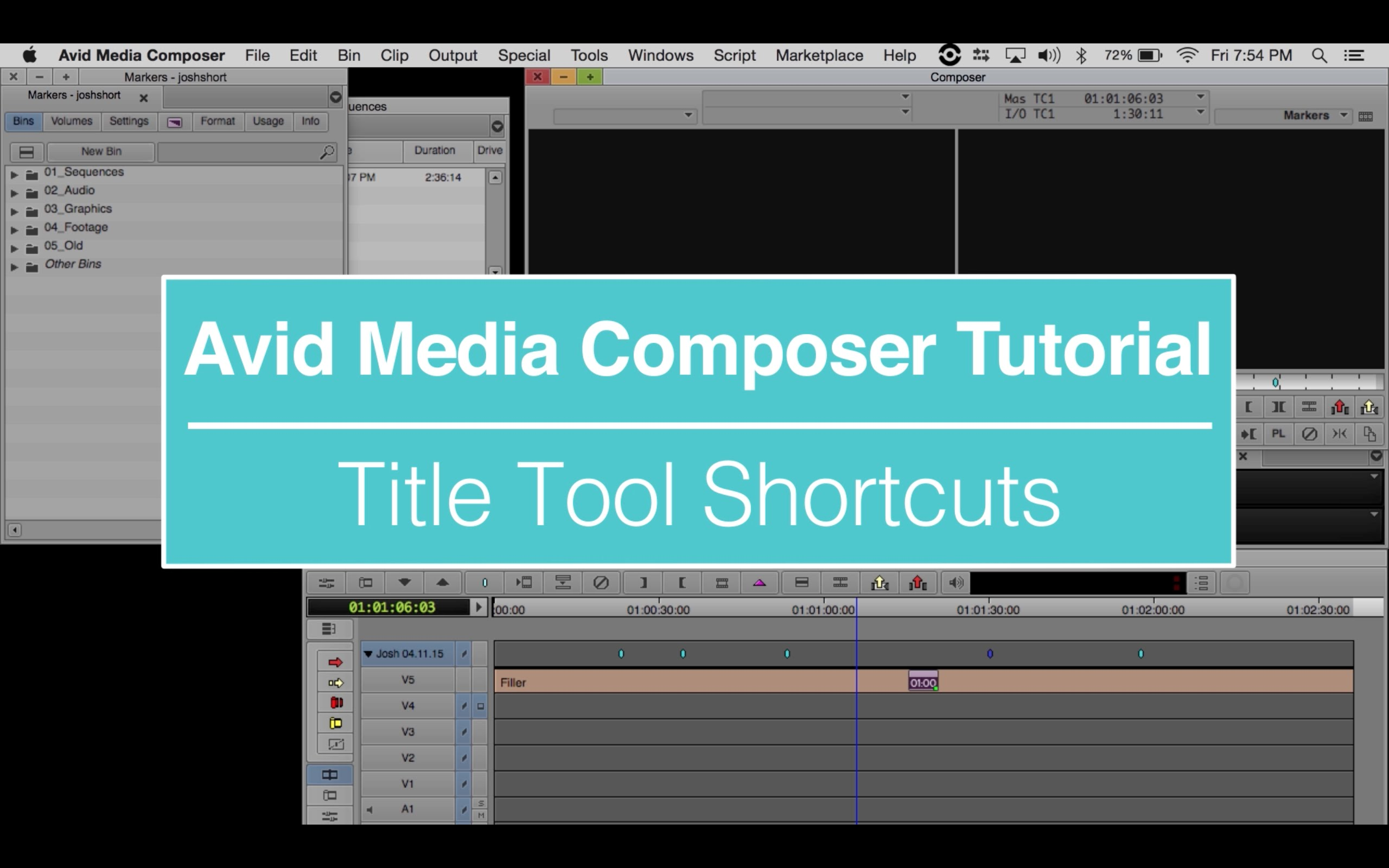 EVF Tutorial – Title Tool Shortcuts in Avid Media Composer