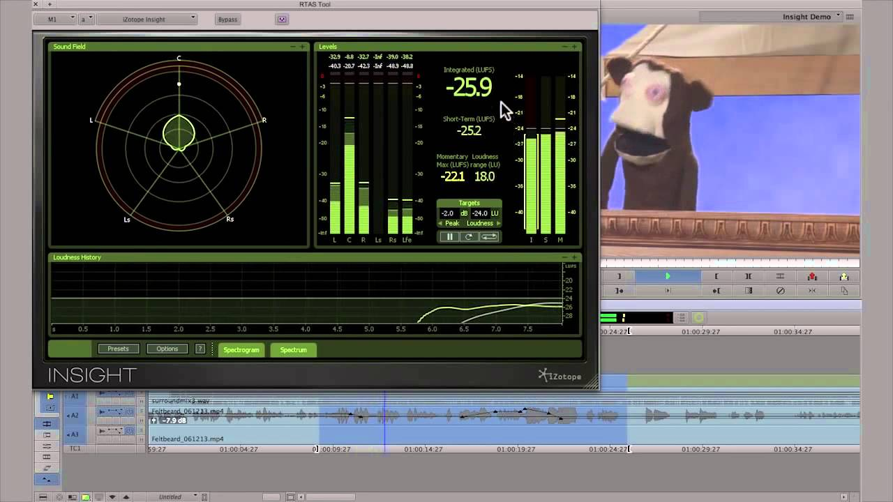 Loudness Metering in Media Composer   iZotope Insight