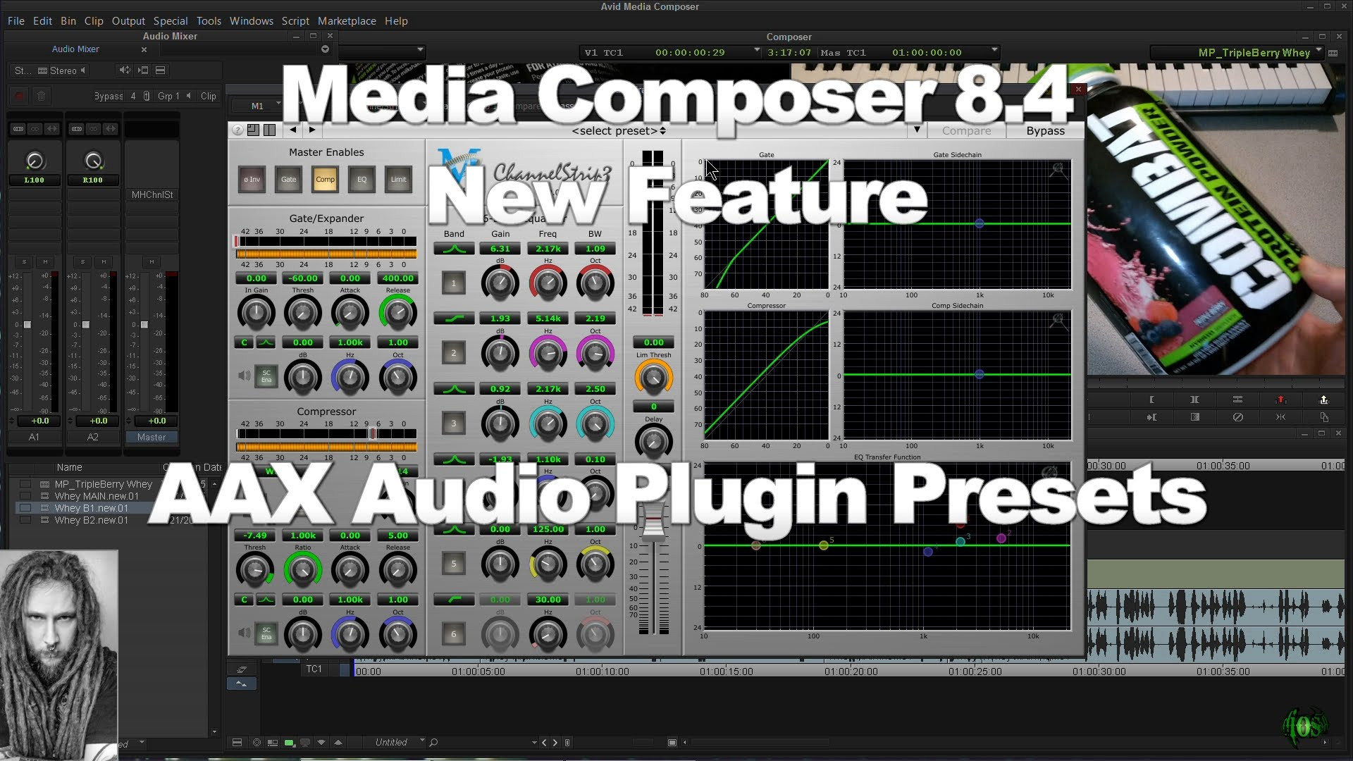Media Composer 8.4 New Feature – AAX Plugin Presets