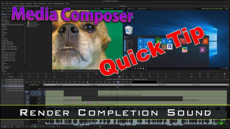 Media Composer Quick Tip – Render Completion Sound