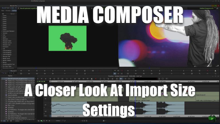 Media Composer – A Closer Look At Import Size Settings