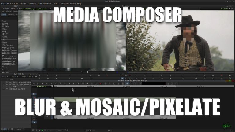 Media Composer – Blur and Mosaic/Pixelate Effect
