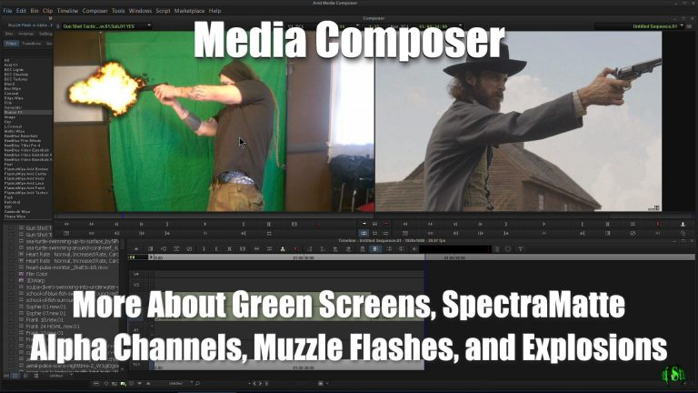 Media Composer – More About Green Screen, SpectraMatte, Alpha Channels, Muzzle Flashes, Explosions