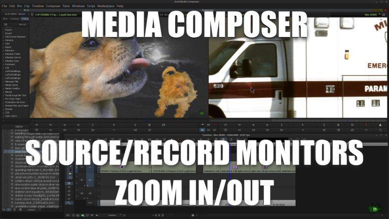 Media Composer – Source/Record Monitor ZOOM