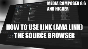 Media Composer 8.6+ How To Use Link/AMA Link – The Source Browser
