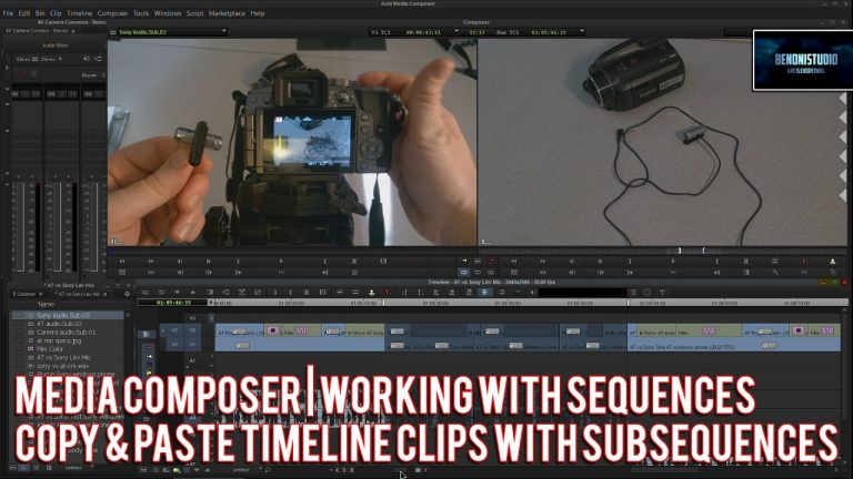 Media Composer | Copy/Paste timeline clips w/Subsequences