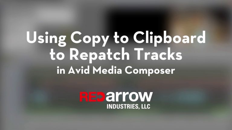 Using Copy to Clipboard to Repatch Tracks in Avid Media Composer
