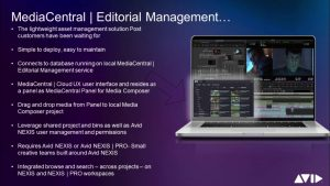 4 minute briefing – Editorial Management for Avid Media Composer workflows