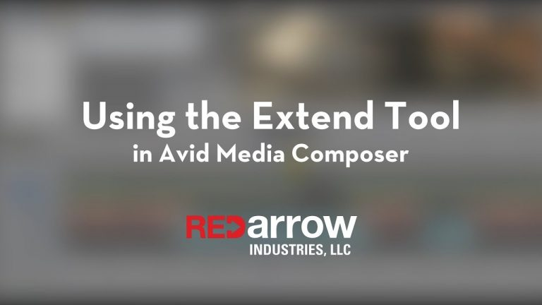 Using the Extend Tool in Avid Media Composer