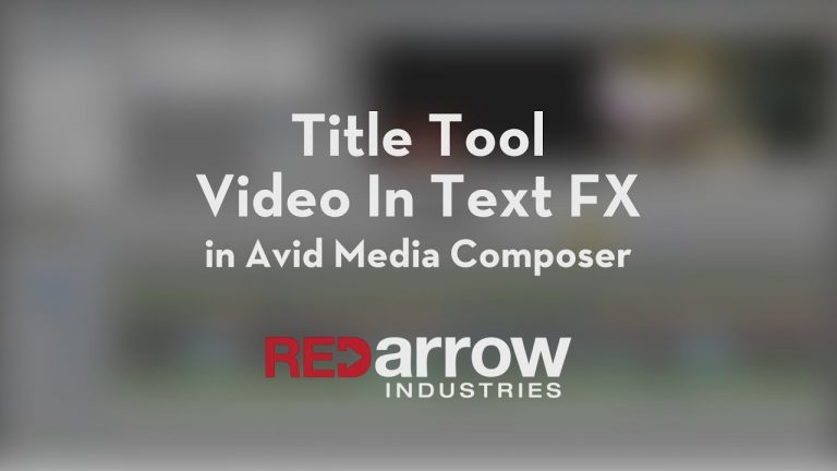 How to Insert Video in Text in Avid Media Composer