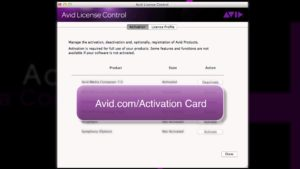 Media Composer® 7 ‒ Activating Your Symphony Option ‒ Avid®