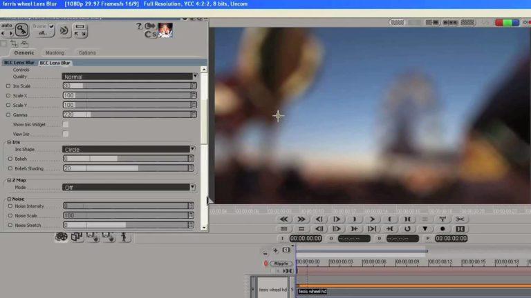 Rack Focus Effect in DS using Boris Continuum AVX Plug in