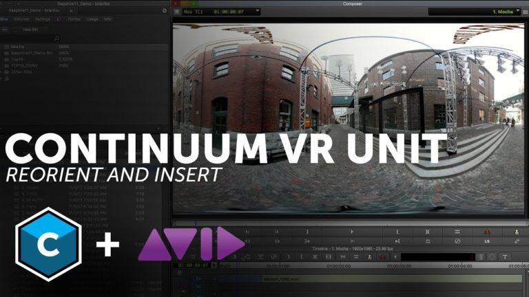 VR Tools for Avid Media Composer – Insert and Reorient