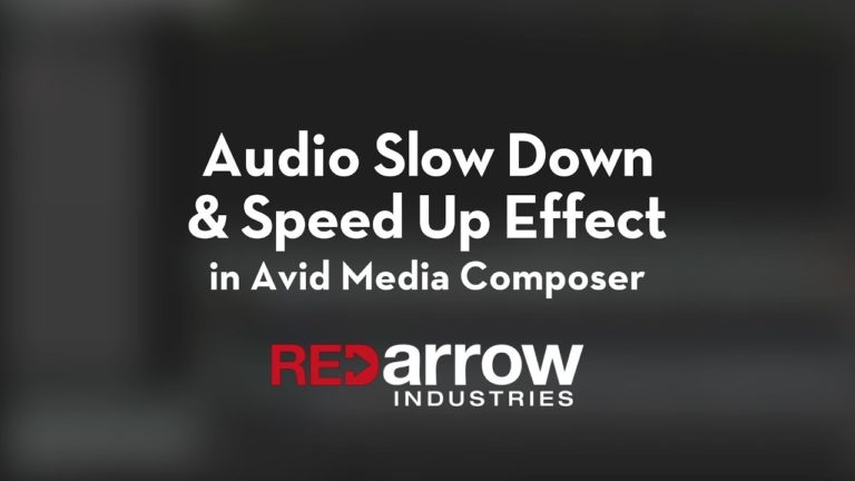 Audio Slow Down & Speed Up Effect in Avid Media Composer