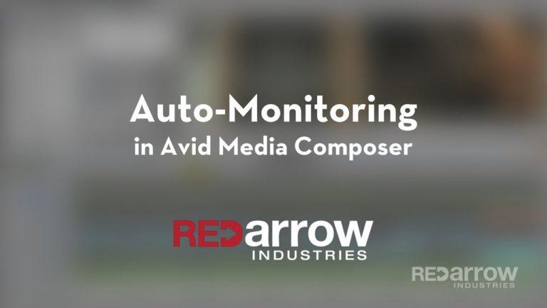 Auto-Monitoring in Avid Media Composer