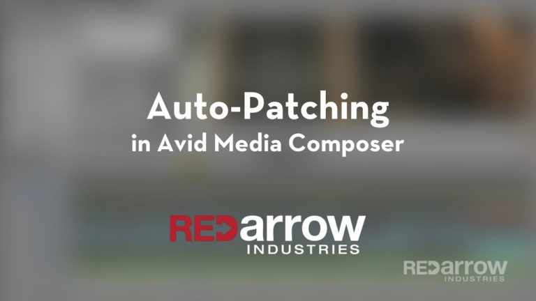 Auto-Patching in Avid Media Composer