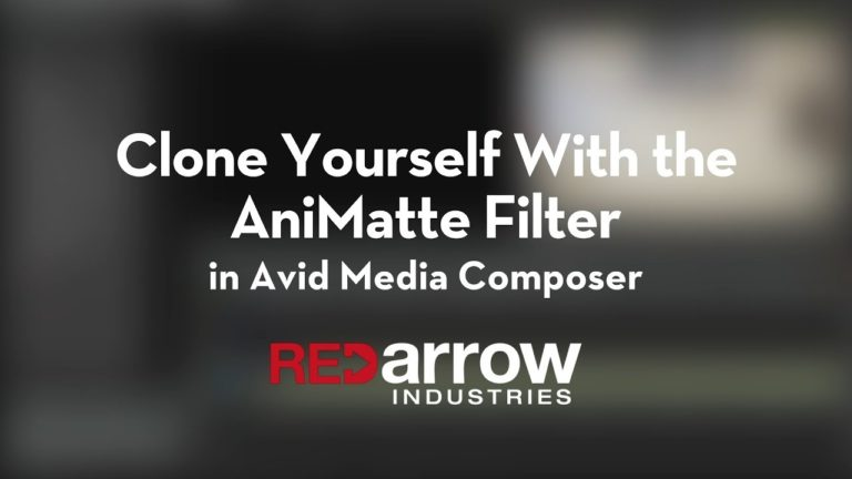 Clone Yourself with the AniMatte Filter in Avid Media Composer