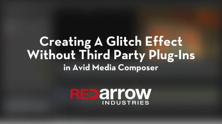Creating A Glitch Effect Without Third Party Plug-Ins in Avid Media Composer