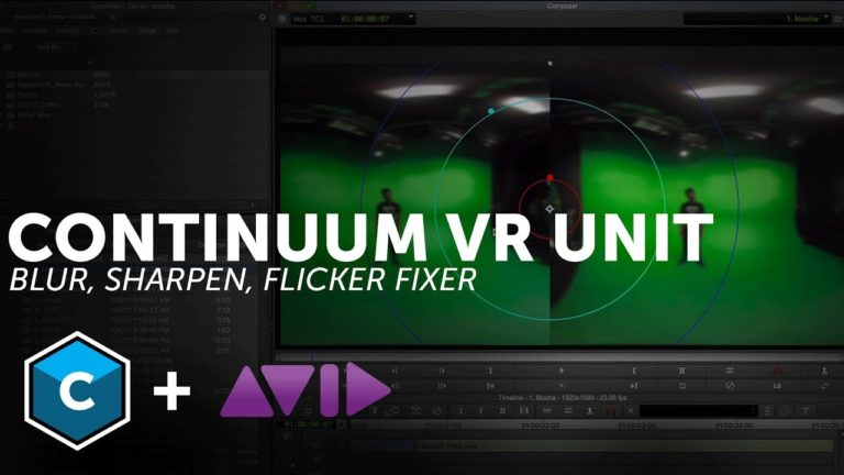 VR tools for Avid Media Composer- Blur, Sharpen, and Flicker Fixer