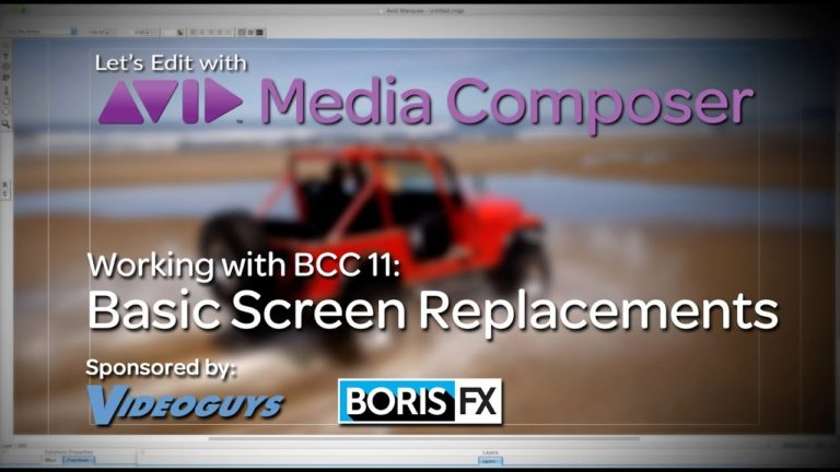 Let's Edit with Media Composer – Basic Screen Replacements