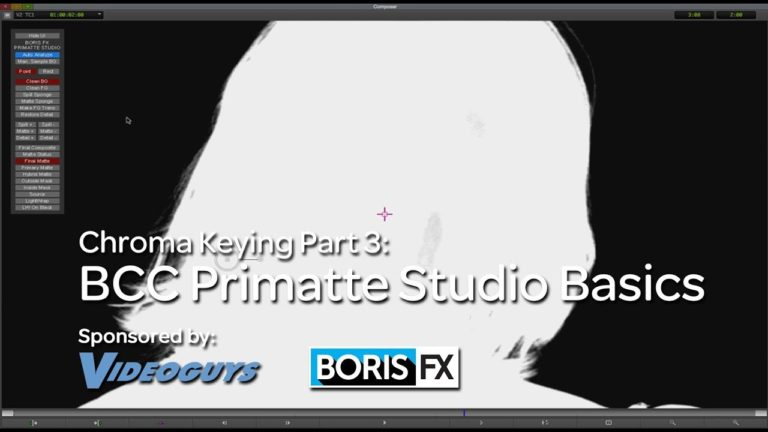 Let's Edit with Media Composer – Chroma Keying Part 3 – Primatte Studio Basics