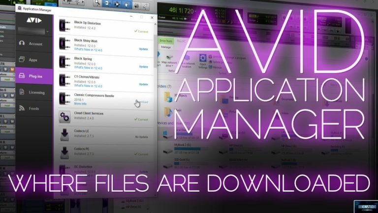 Avid Application Manager   Where files are downloaded (Windows)