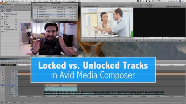 Locked vs. Unlocked Tracks in Avid Media Composer