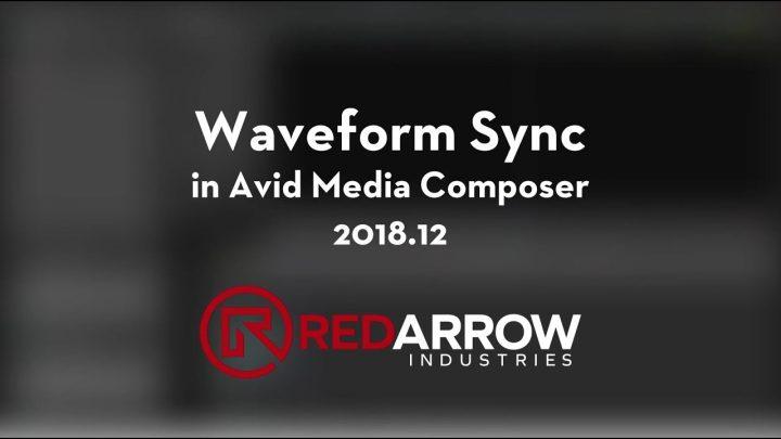 Waveform Sync in Avid Media Composer 2018.12