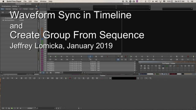 Waveform Sync and Create Group from Sequence in new MC 2018.12