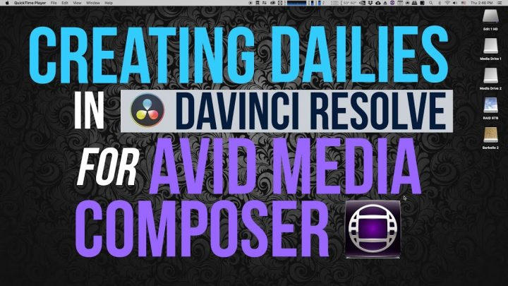 Creating Dailies in Davinci Resolve for Avid Media Composer (Part 1/7)