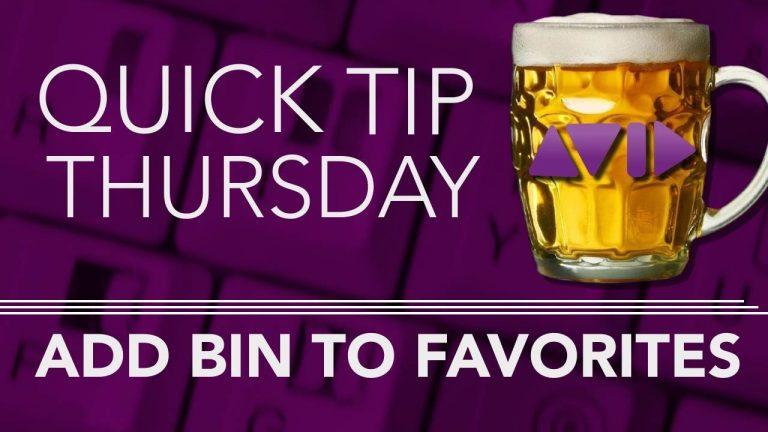 Add Bin To Favorites in AVID