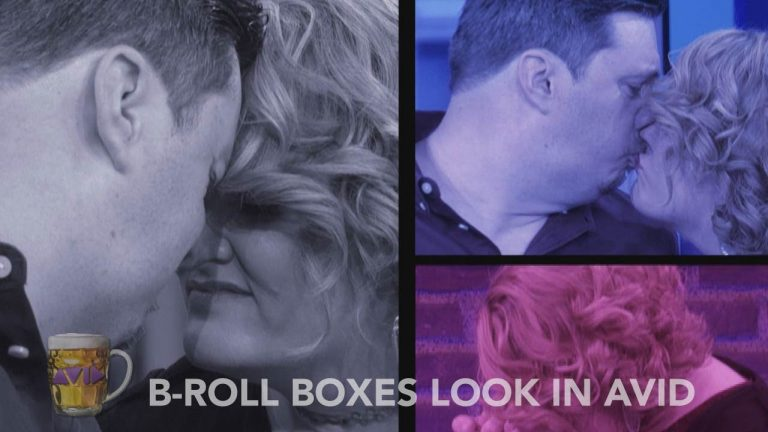 B-Roll Boxes Look in AVID