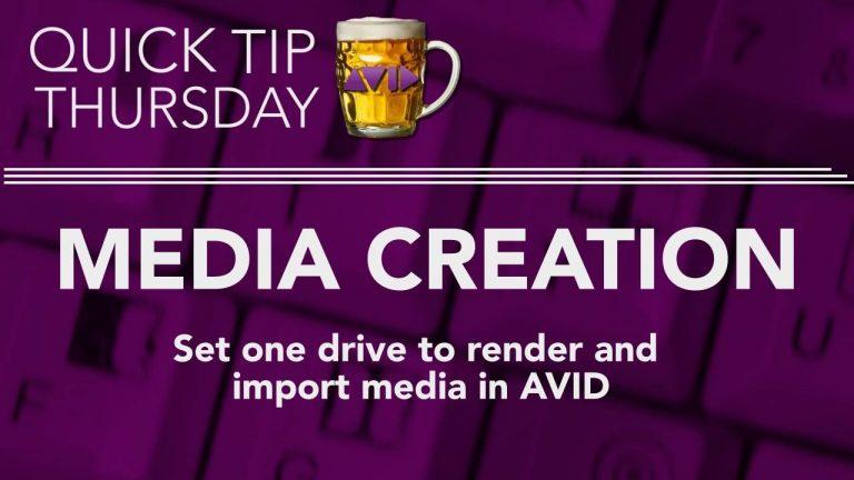 Set One Media Drive in AVID