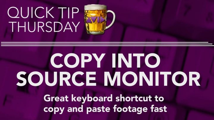 Copy Into Source Monitor in AVID